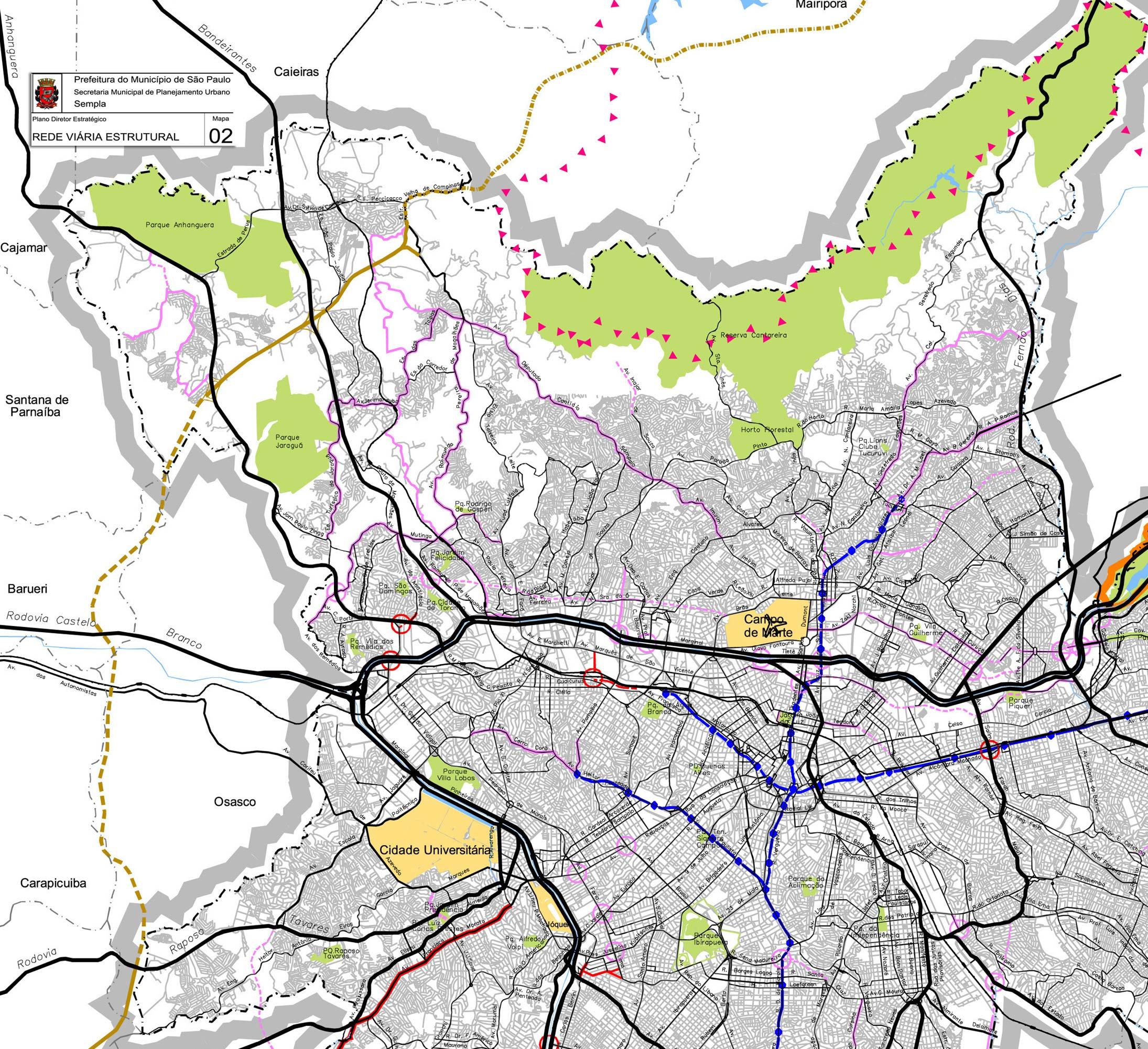 Mapa Cidade De Sao Paulo
