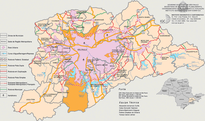 Aparador Jb Bechara Luxo Aquamarine ~ Mapa da Regi u00e3o Metropolitana de S u00e3o Paulo Grande SP